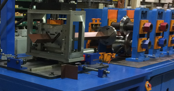 angle iron exiting roll former
